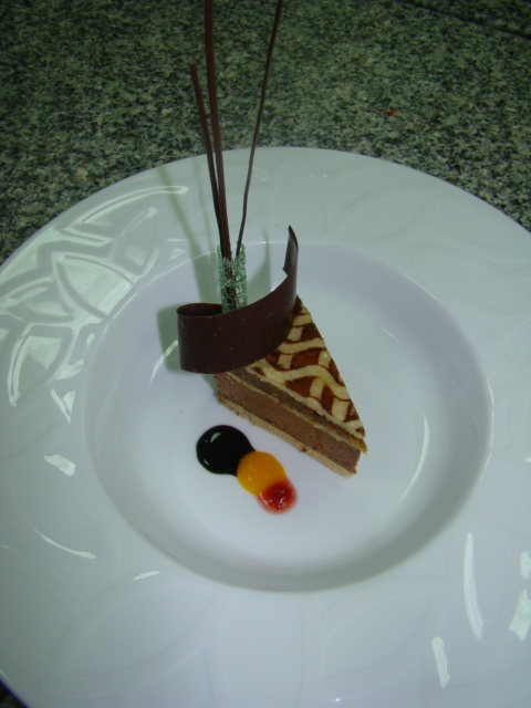 Opera Chocolate Date Tart By Executive Pastry chef Richard Zeber Ramada Plaza Doha