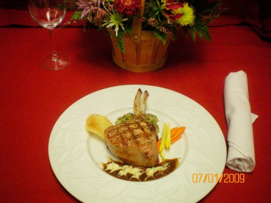 Roasted Double Veal Chop Deep Plate Comp