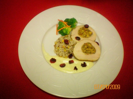 Stuffed Chicken Deep Plate