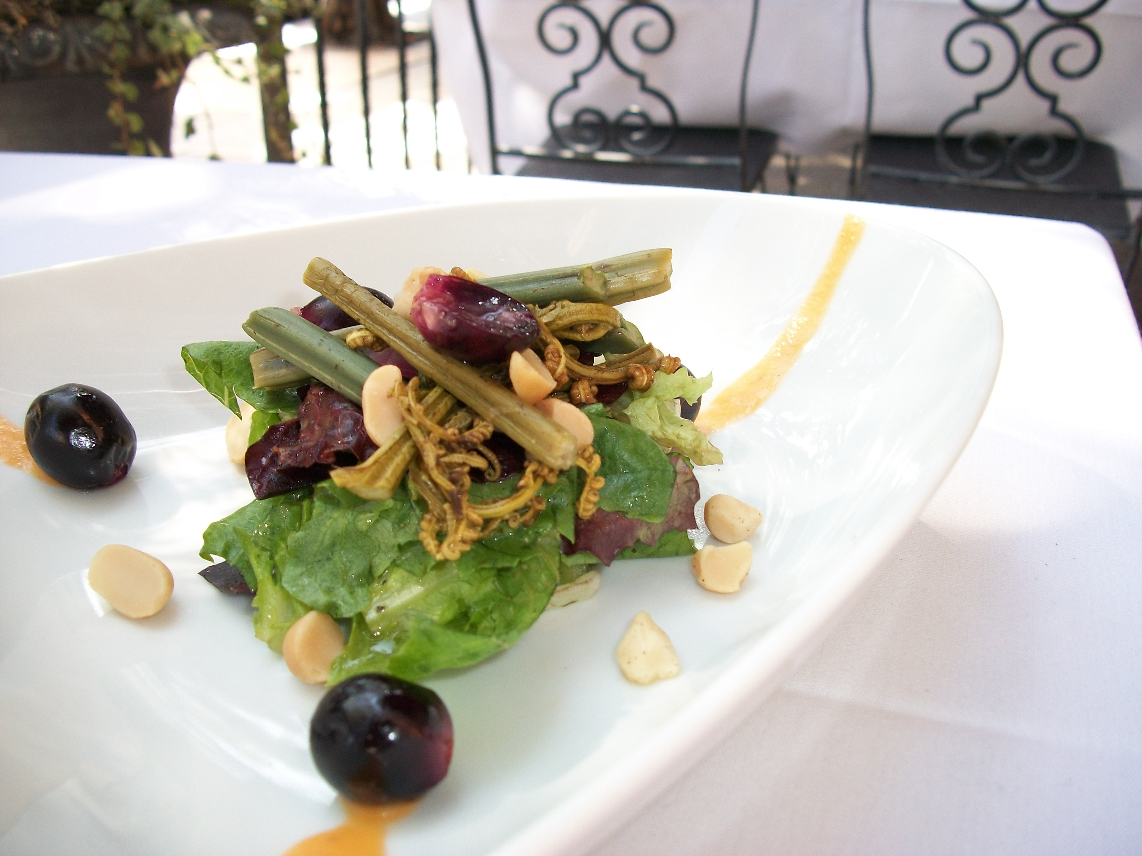 Nuts deep plate for American cuisine san diego