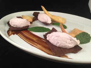 March - Deconstructed Cannoli (Blackberry, Marscapone, Dark Chocolate, Crust)