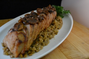 2 May 13 Exercise - Orange Soy Glazed Pork loin atop Quinoa and Lentil Pilaf (2)