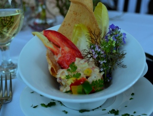 July 13 Exercise - Lobster Roll, Ancho Mayo, Brioche Cracker, Grilled Corn Salsa (2)