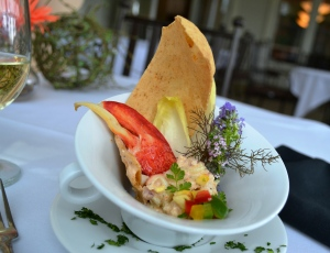 July 13 Exercise - Lobster Roll, Ancho Mayo, Brioche Cracker, Grilled Corn Salsa (4)