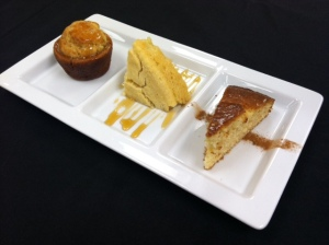 Corn Bread Trio with cinnamon dusting, and a honey-molasses glaze (Meghan Brown)
